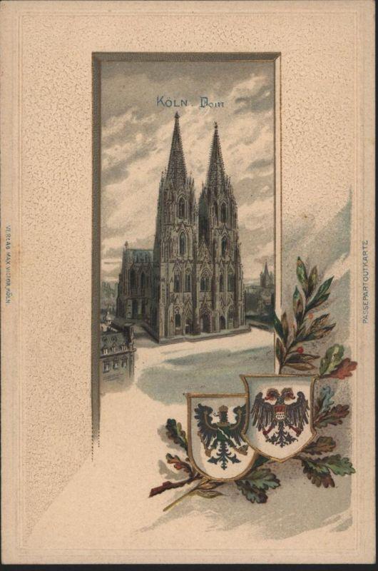 Ansichtskarte Köln Dom außergewöhnlich schöne geprägte Prägekarte NRW