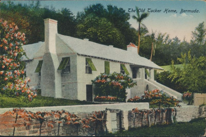 Bermuda Ansichtskarte 35+36 Hamilton nach New York City The Old Tucker Home 1920