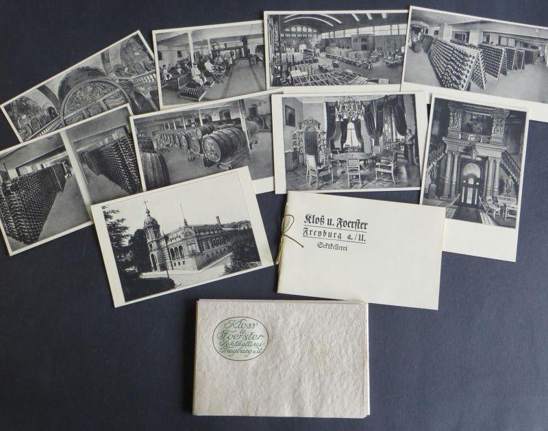 Ansichtskarte Freyburg a.U. Sektkellerei Alkohol Kloss & Foerster Original