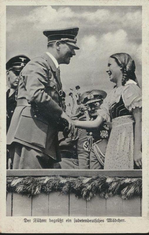 Ansichtskarte Foto Drittes Reich Sudeten 12+13A+14+15+21 Sudetendeutsches Mädel