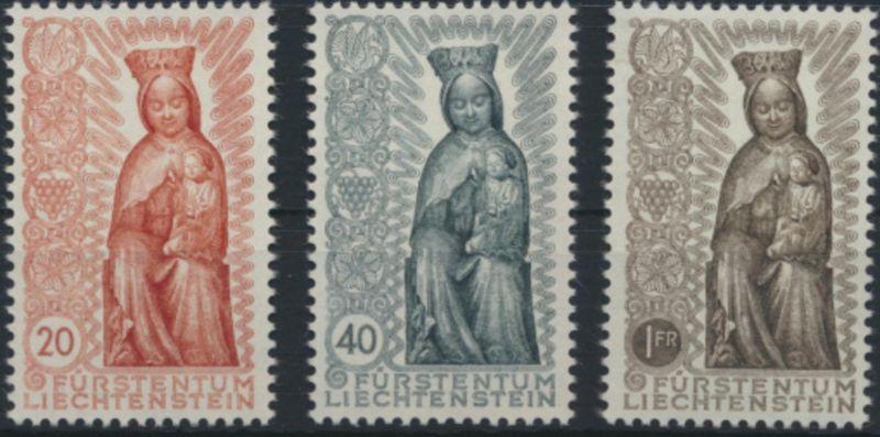 Liechtenstein 329-331 Marianisches Jahr Ausgabe 1954 tadellos postfrisch