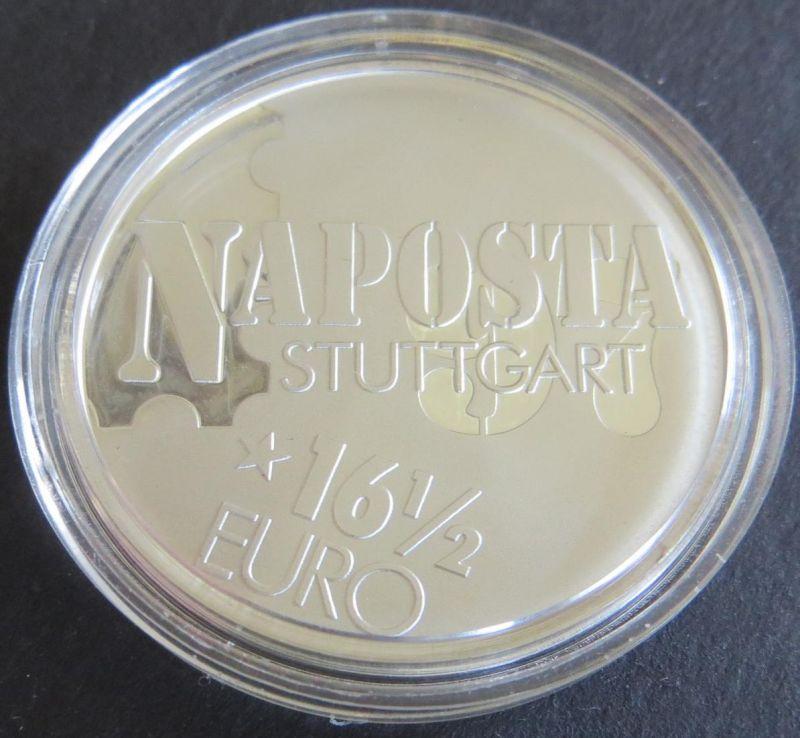 Münze Medaille 1997 Naposta Stuttgart 16 1/2 Euro Silber 15g 999er Silber PP