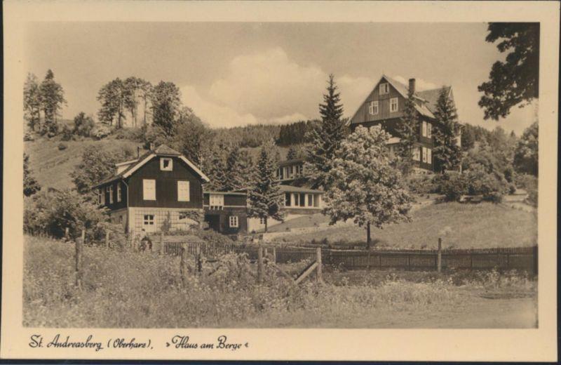 Ansichtskarte St. Andreasberg Oberharz Haus am Berge Gaststätte der Bundesbahn