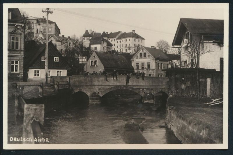 Ansichtskarte Deutsch Aicha Český Dub Sudeten Tschechien