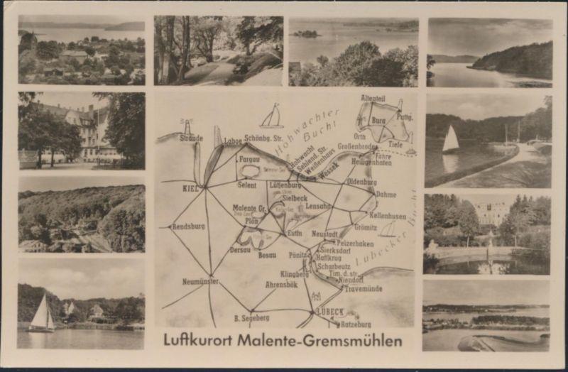 Ansichtskarte Malente Gremsmühlen Karte Meer Segelboot