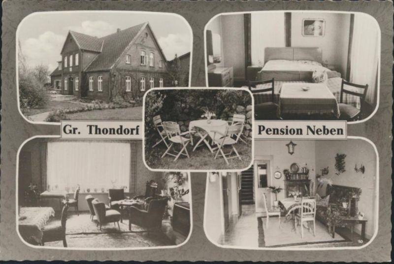 Ansichtskarte Foto Groß Thondorf Pension Neben Innenansicht
