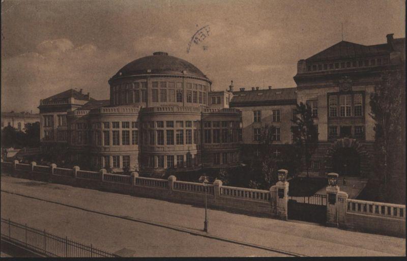 Ansichtskarte München Anatomie Post - Werbestempel Reisescheck n. Köln-Ehrenfeld