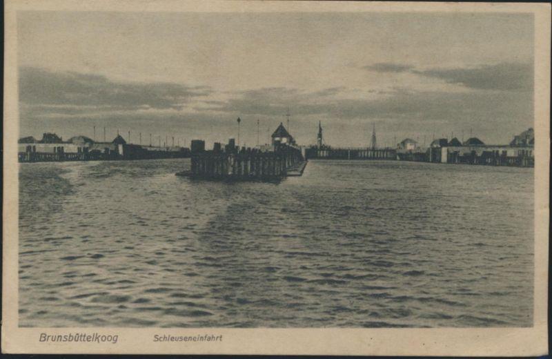 Ansichtskarte Foto Brunsbüttelkoog Schleuseneinfahrt Schifffahrt Marine