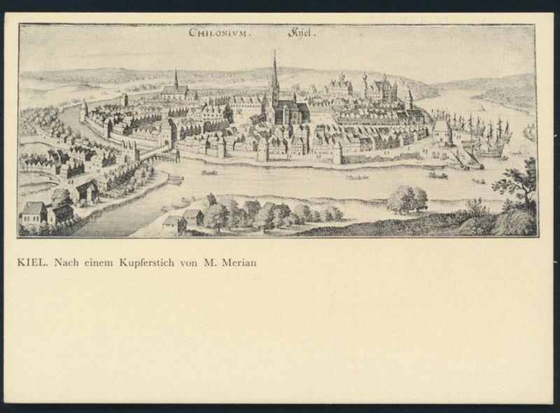 Ansichtskarte Kiel nach einem Kupferstich von M. Merian