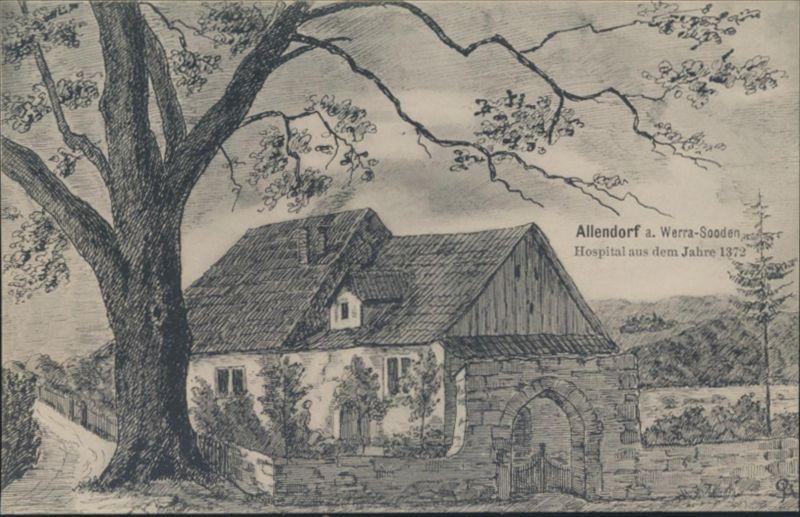 Ansichtskarte Künstler Allendorf Hospital aus dem Jahr 1372