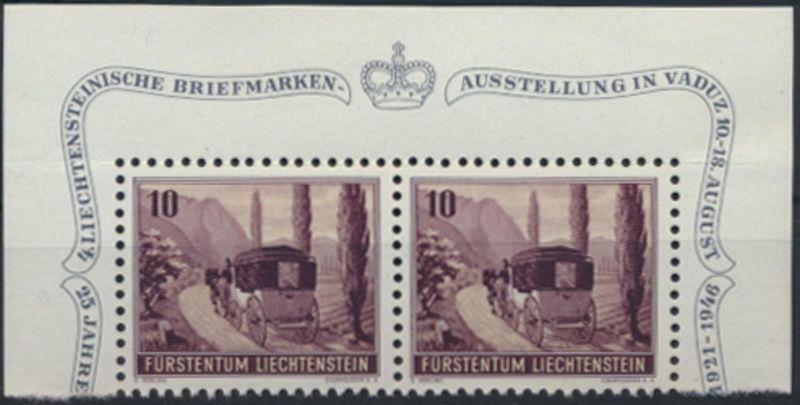 Liechtenstein 248 Einzelmarken aus Block 4 W 18 tadellos postfrisch MNH