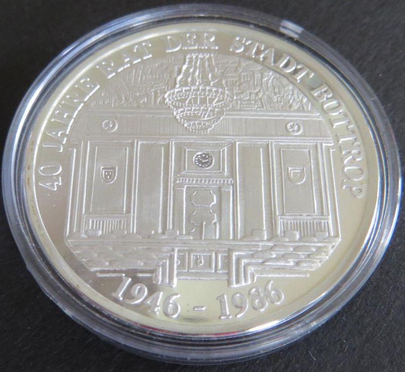 Medaille 1986 40 Jahre Rat der Stadt Bottrop Wappen 15g 999er Feinsilber PP
