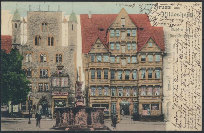 Ansichtskarte Hildesheim 1899 nach Hemer
