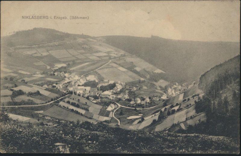 Ansichtskarte Niklasberg Mikulov Tschechien ab Hermsdorf n. Annaberg 1904