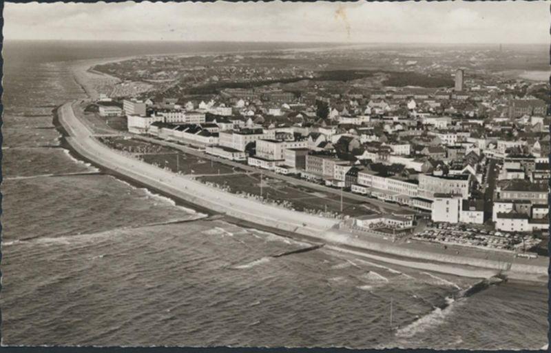 Ansichtskarte Norderney Nordsee Niedersachsen Foto Fliegeraufnahme 1965 n Vilsen