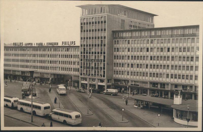 Ansichtskarte Mönchengladbach Foto Bahnhofsvorplatz Auto Bus