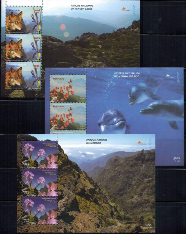 Portugal Block 2338 + Block 2338 Europa-CEPT + Azoren + Madeira Tiere Natur