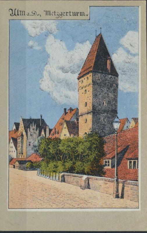 Ansichtskarte Ulm Donau Künstlerkarte ungelaufen