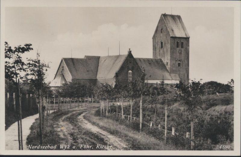 Ansichtskarte Foto Nordseebad Wyk auf Föhr Kirche