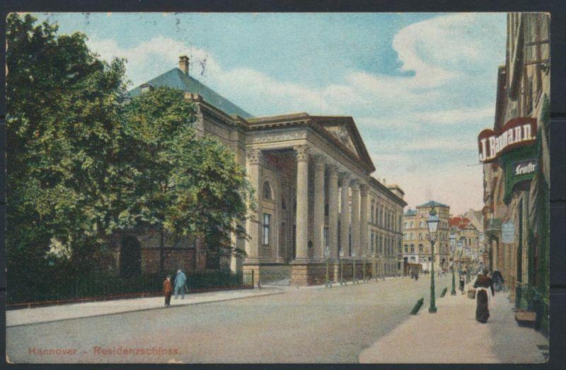 Ansichtskarte Hannover Residenzschloß nach Köln 18.10.1906