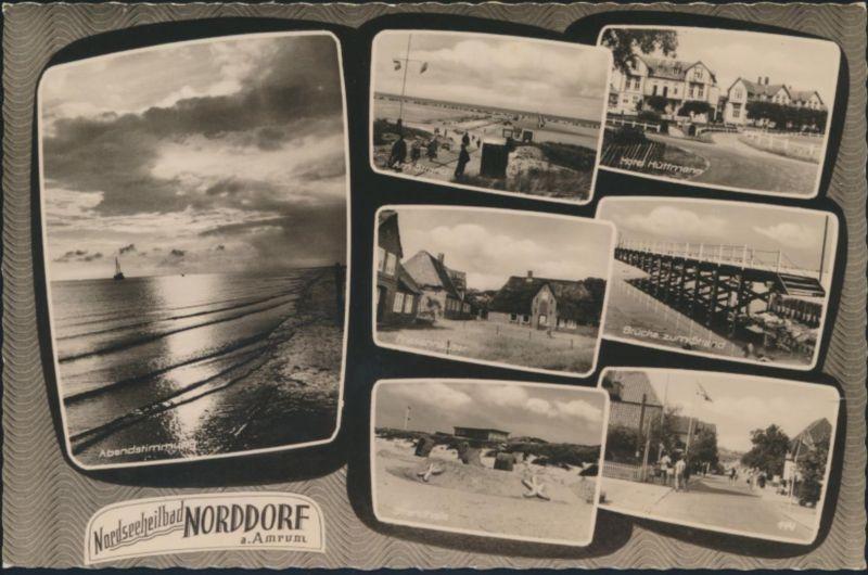 Ansichtskarte Norddorf Schleswig 7 Ansichten Brücke u.a. n. Lahr 30.7.1962