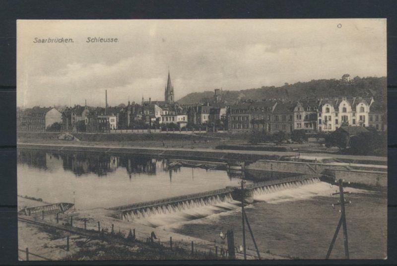 Ansichtskarte Saarbrücken Schleuse Saarland