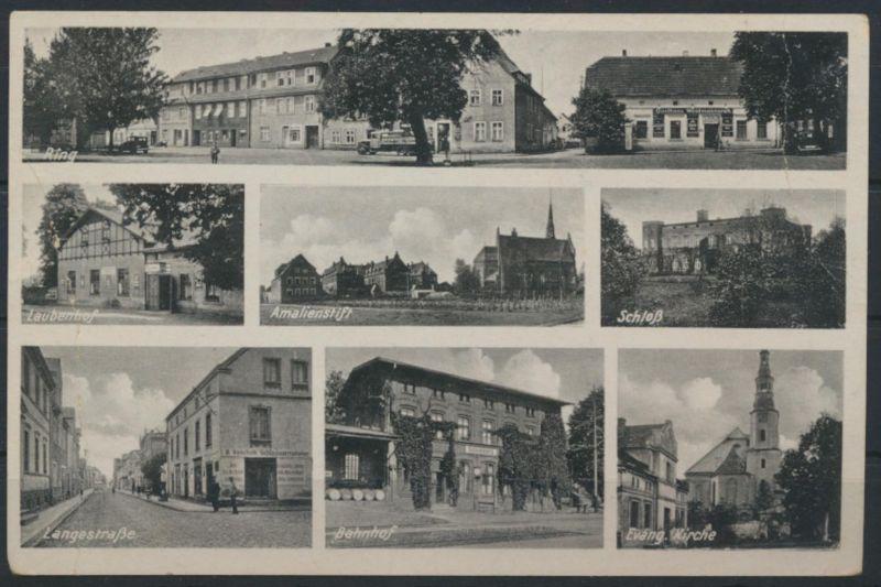 Ansichtskarte Juliusburg Schleswig-Holstein Bahnhof Langestraße Feldpost 1941