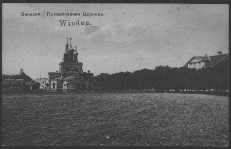 Ansichtskarte Handstempel Windau Ventspils Kurland Lettland Feldpost St. 168 n.