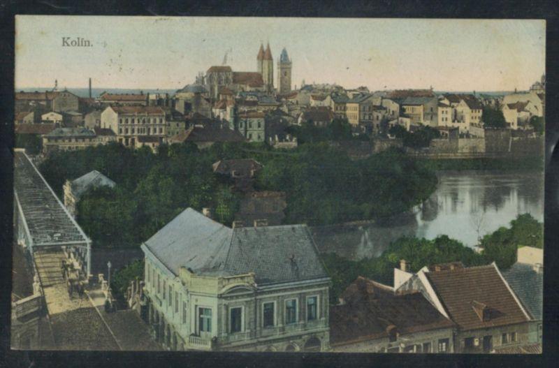 Ansichtskarte Kolin Böhmen Tschechien Topographie