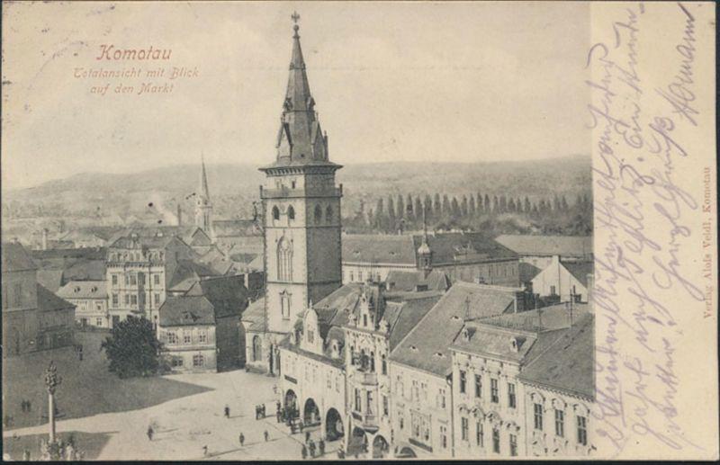 Ansichtskarte Komotau Chomutov Tschechien Sudetenland nach München