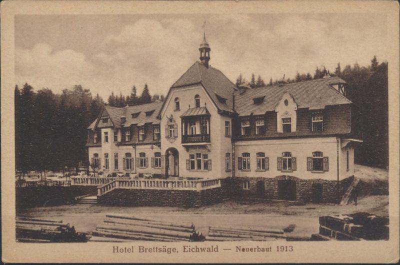 Ansichtskarte Foto Eichwald bei Teplitz Hotel Brettsäge Verlag Sattler & Lissey