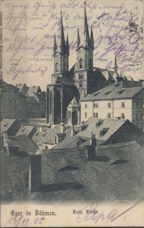 Ansichtskarte Eger Böhmen Cheb Tschechien Foto Kirche 1905 nach München
