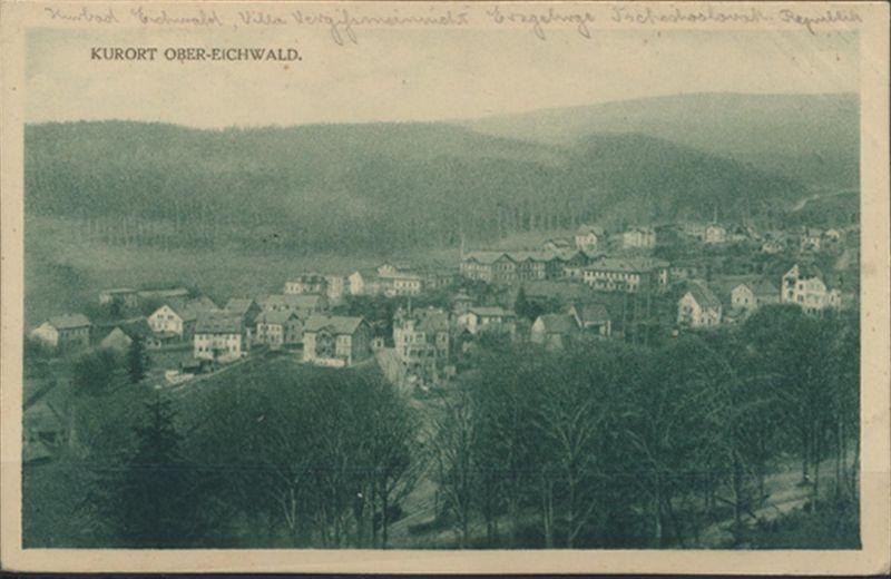 Ansichtskarte Foto Ober - Eichwald bei Teplitz nach Eisenach Sudeten 1926