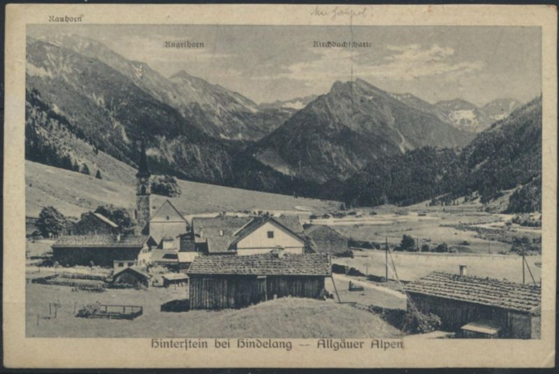Ansichtskarte Foto Hinterstein bei Hindelang Kugelhorn Kirchdachscharte