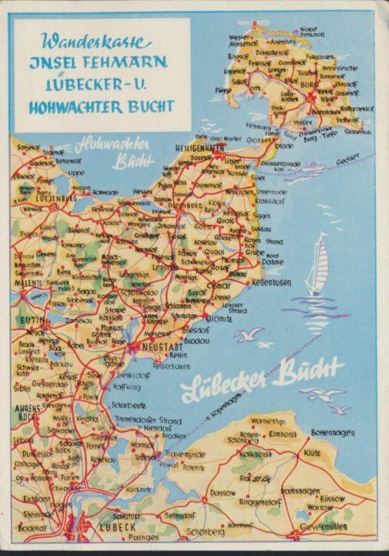 Ansichtskarte Wanderkarte Kartographie Insel Fehmarn Lübecker Bucht Hohwachter