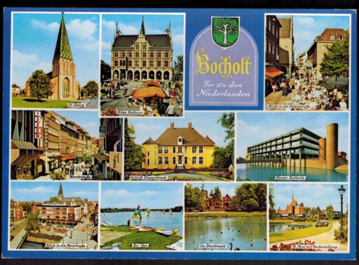 Ansichtskarte Bocholt Tor zu den Niederlanden NRW 0