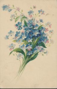 Estland Ansichtskarte Postkarte 94 Nõmme 15.4.1933 Geburtstagsgrüße Blumen
