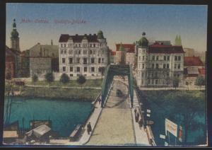 Ansichtskarte Mährisch Ostrau Ostrava Tschechien Rudolfs Brücke Ostgebiet Böhmen