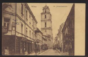 Foto Ansichtskarte Wilna Vilnius Johannisstraße Feldpost I Welkieg Berlin Krieg