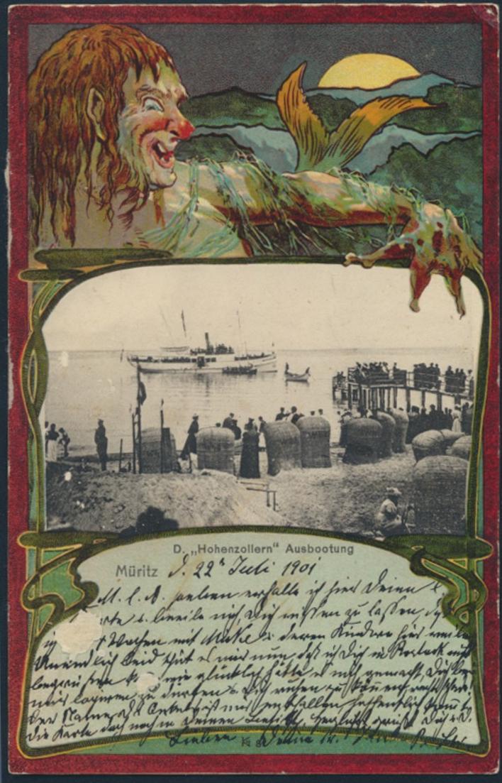 Ansichtskarte Seefahrt Schiff Marine Litho Jugendstil Art Nouveau D Hohenzollern 0