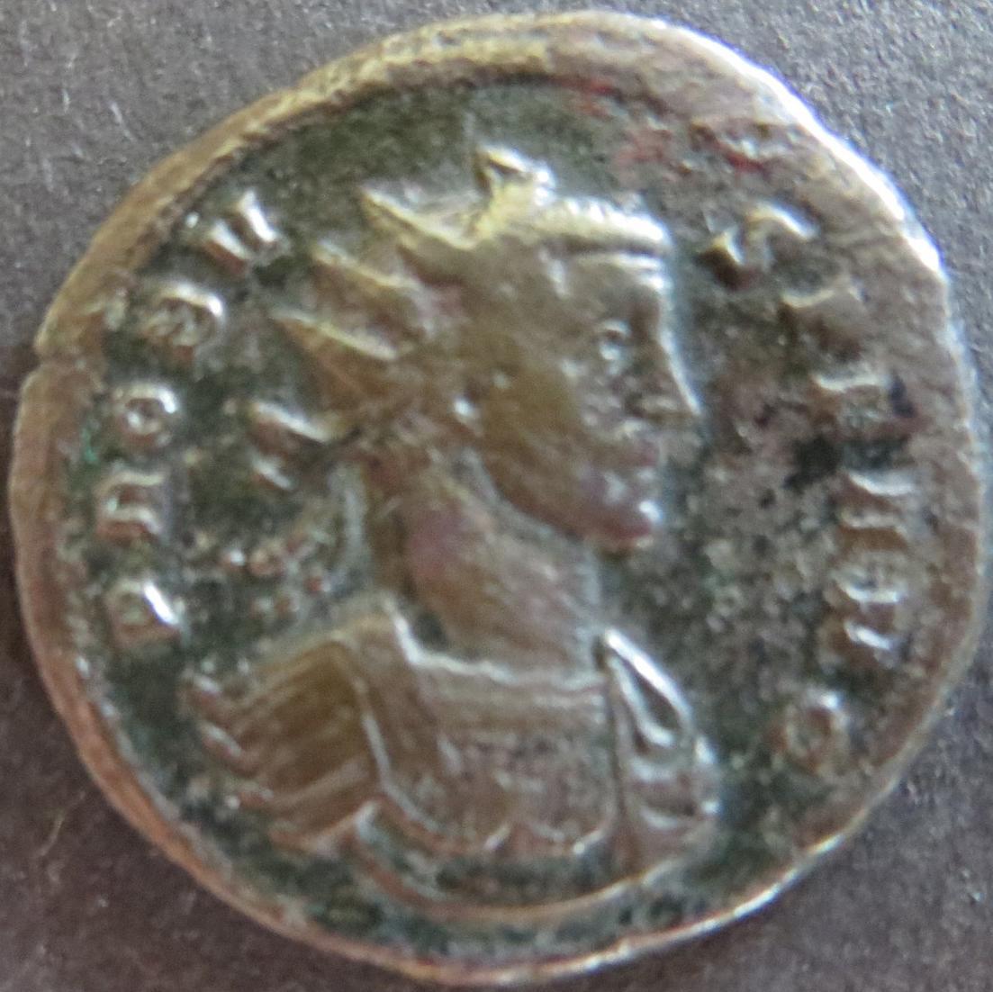 Römische Münze Probus 276-282 Antoninian RS Trophäe zwischen zwei Gefangenen s