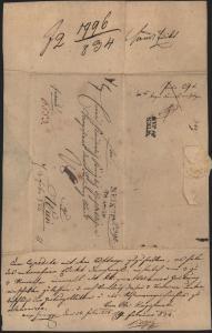 Preussen Vorphila Auslandbrief L2 Neisse Nysa Schlesien n Wien Österreich rs. K2