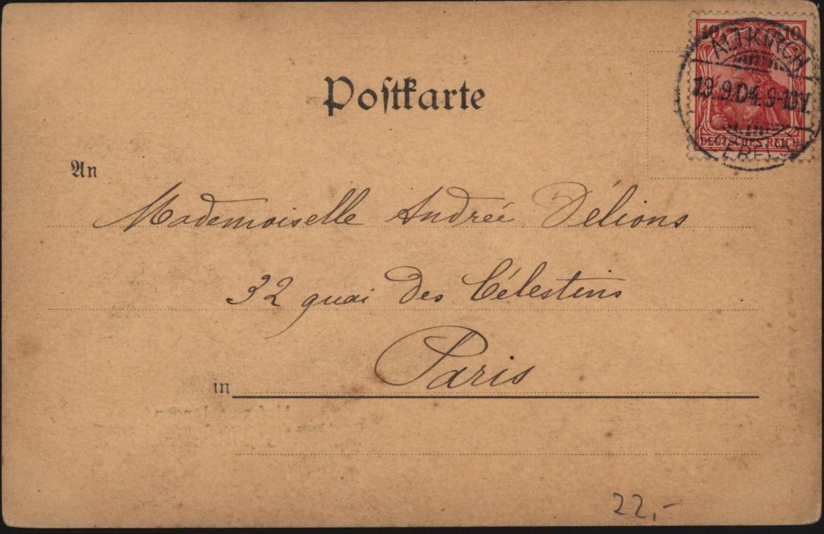 Top Ansichtskarte Gutenberg Mainz Kunstanstalt Stern & Löb Frankfurt London 1