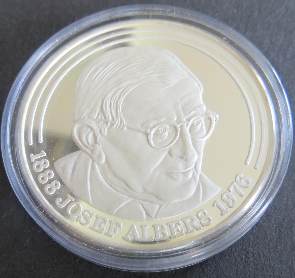 Münze Medaille 1983 Bottrop Josef Albers Museum 15 g 1000er Feinsilber PP
