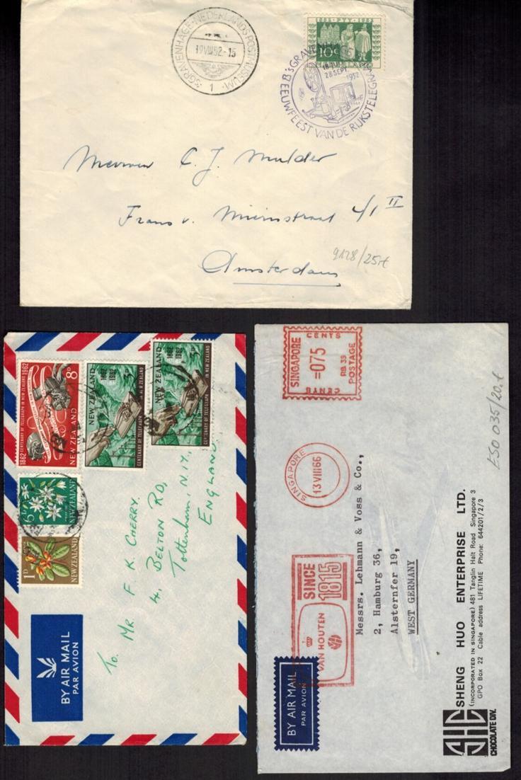 Nachrichtenwesen Sammlung Briefe Ansichtskarten & Ganzsachen aus aller Welt