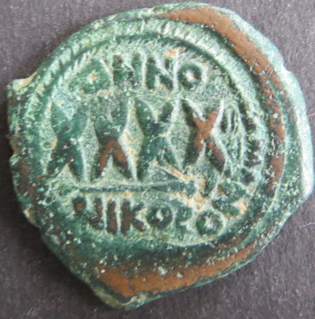 Byzantinische Münze Nicomedia ca. 500 Follis s-ss