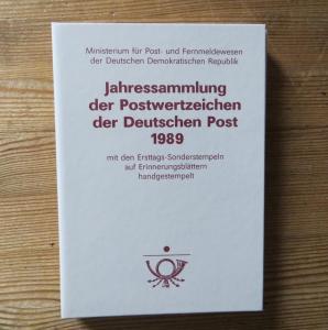 DDR Ersttagsblatt - Jahressammlung 1989 mit ESST handgestempelt Kat.-Wert 220,-