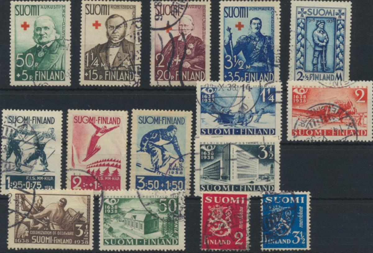 Finnland 181-221 gestempelt - Jahrgang 1933-1939 komplett