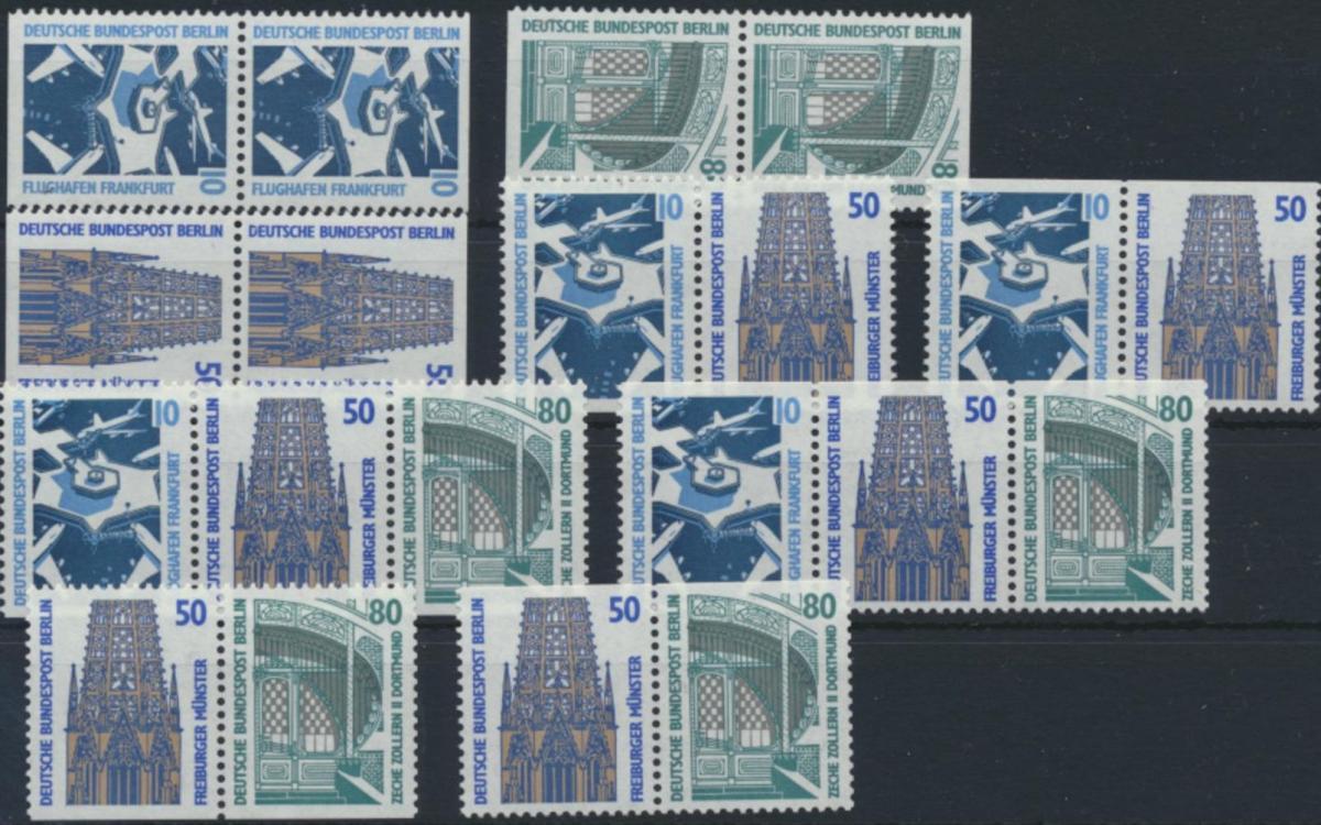 Berlin Zusammendrucke aus MH 14 W83-W88 794-798 C/D ** 1989