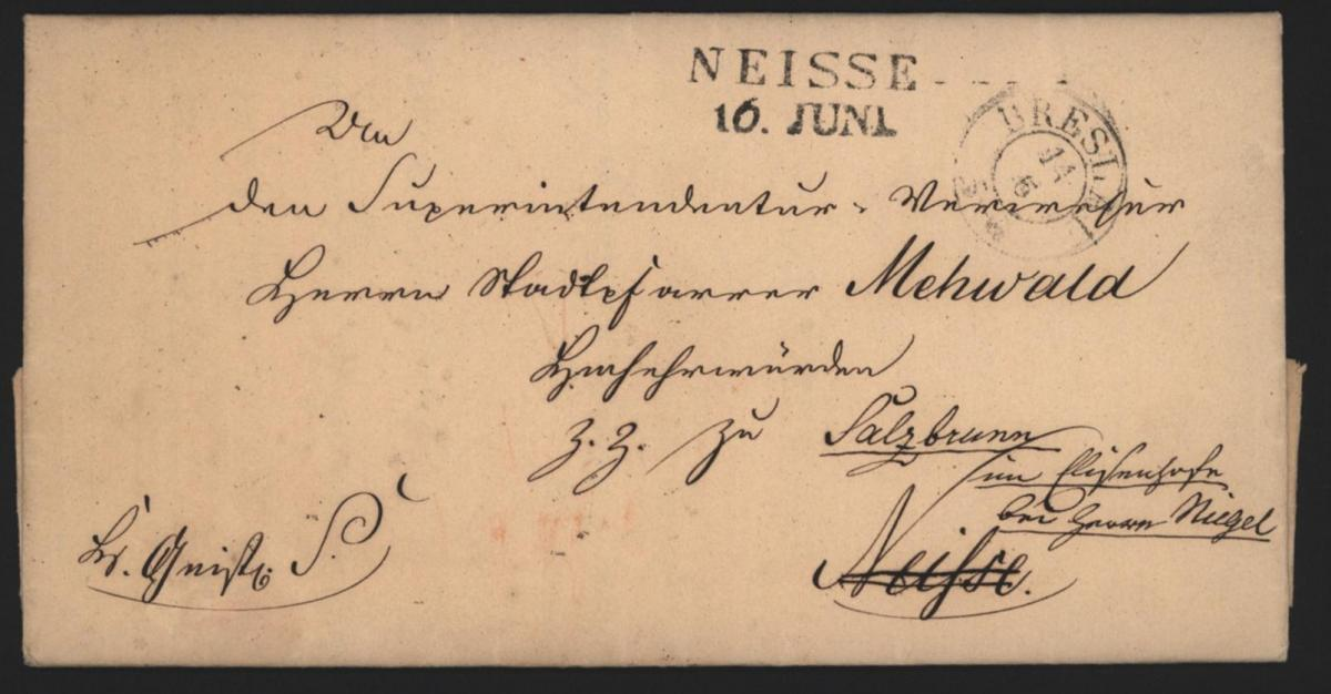 Preussen Vorphila Durchgang L2 Neisse Nysa Schlesien weitergeleitet nach Breslau 0